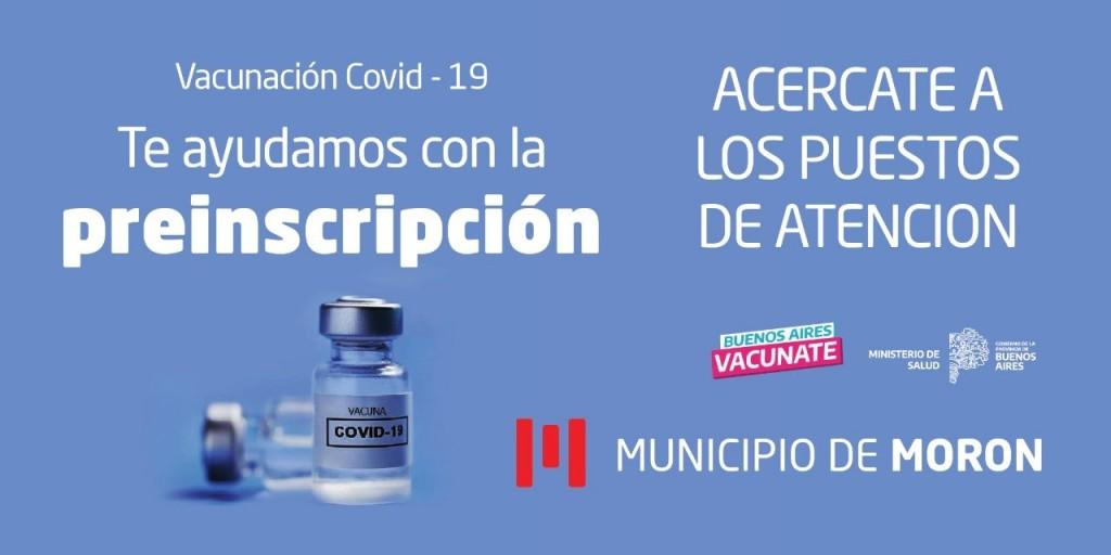 El Municipio de Morón dispuso operativos para facilitar la asistencia en la preinscripción para recibir la vacuna contra el Covid-19