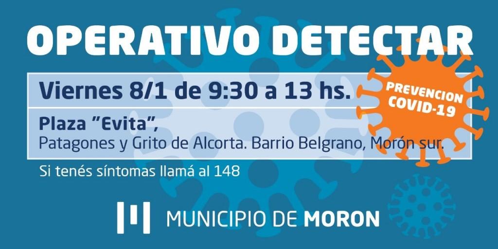 El Municipio de Morón continúa con los Operativos Detectar en todo el distrito