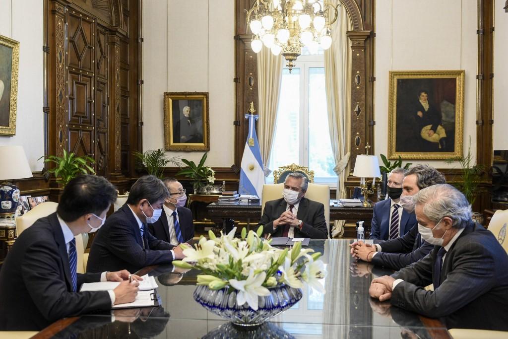 El Presidente se reunió con el ministro de Asuntos Exteriores de Japón