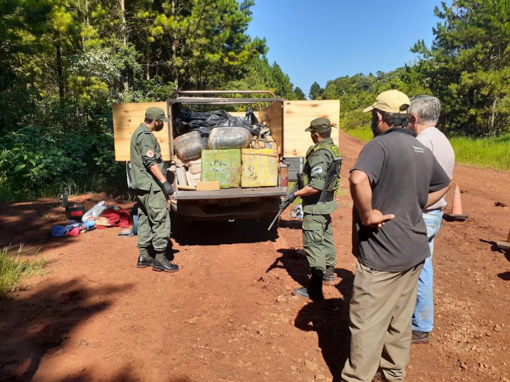 Gendarmería Nacional secuestró más de una tonelada de marihuana en Misiones