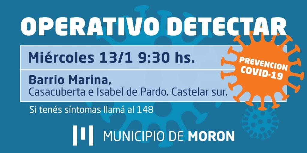 El municipio de Morón realizará esta semana dos nuevos operativos DETECTAR