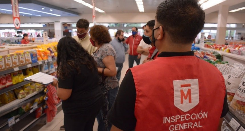 El municipio fiscalizó el cumplimiento de los precios cuidados en el supermercado Disco de Morón