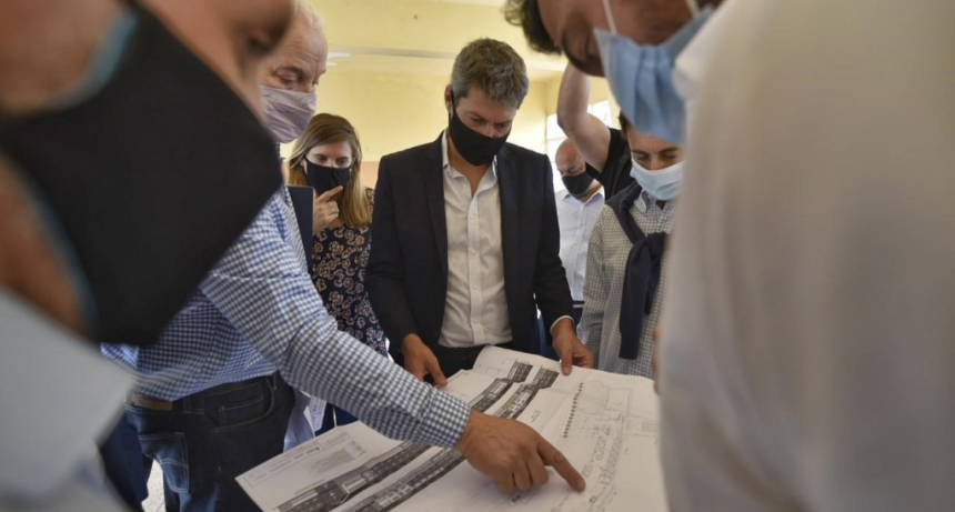 Matías Lammens recorrió obras en la Unidad Turística Embalse