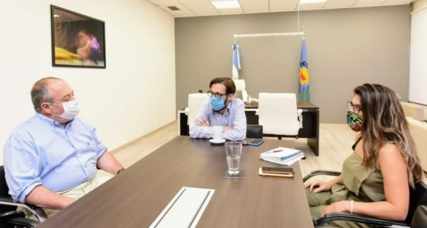 Agustín Simone se reunió con autoridades hídricas de Nación