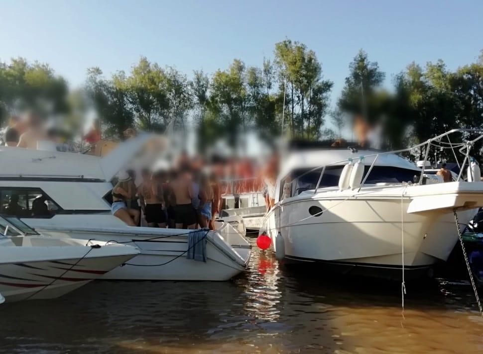 Prefectura Naval desarticuló una fiesta clandestina en el agua en San Isidro