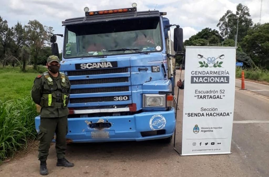 Gendarmería Nacional decomisó 107 toneladas de soja ilegal y 30 toneladas de maíz