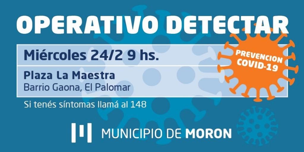 El Municipio de Morón continúa con los operativos Detectar en todo el territorio