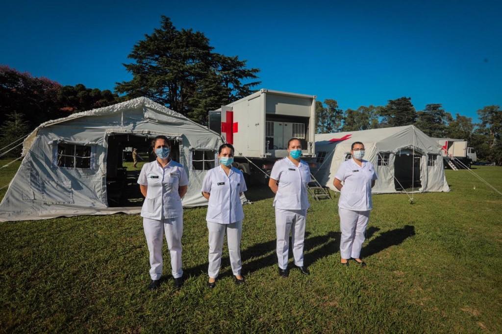 Se presentó el Hospital Móvil donado por la República Popular China