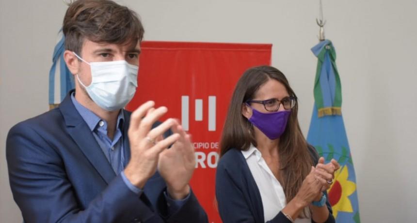 Ghi y la ministra Gómez Alcorta firmaron convenios para promover políticas de géneros en Morón