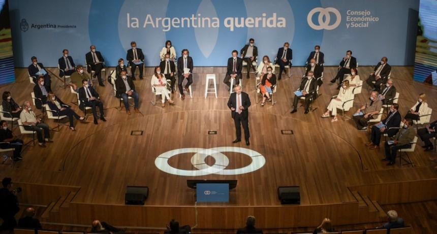 El presidente Alberto Fernández encabezó en el Centro Cultural Kirchner, el acto de lanzamiento del Consejo Económico y Social
