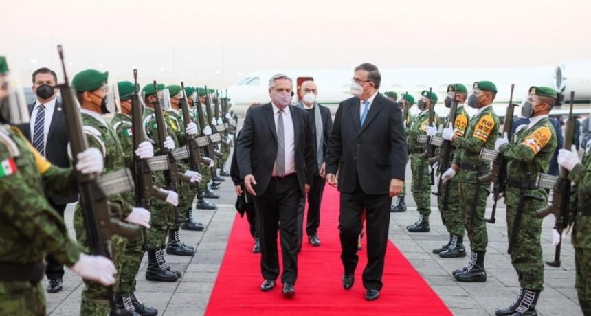 El Presidente ya llegó a México para iniciar su visita oficial