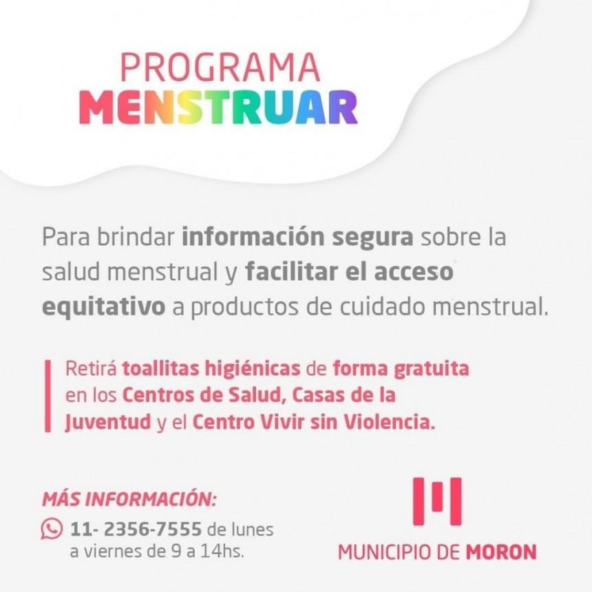 El Municipio de Morón avanza en la implementación del programa Menstruar