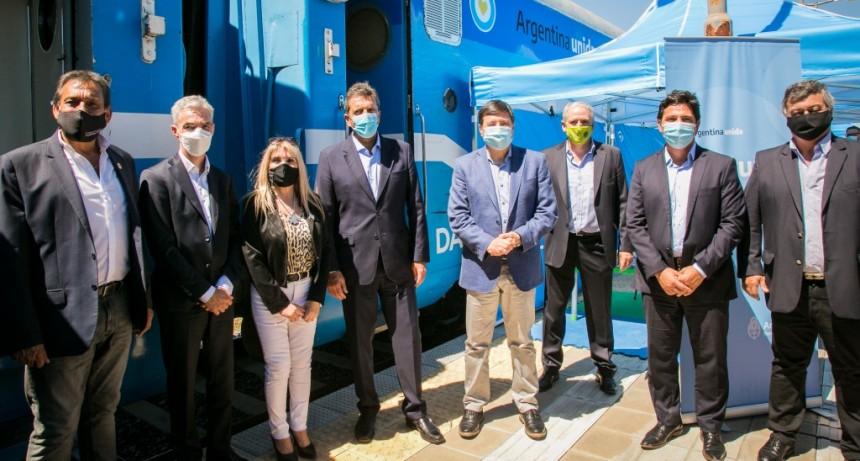 Mario Meoni participó en el lanzamiento del Tren de Desarrollo Social en Chascomús