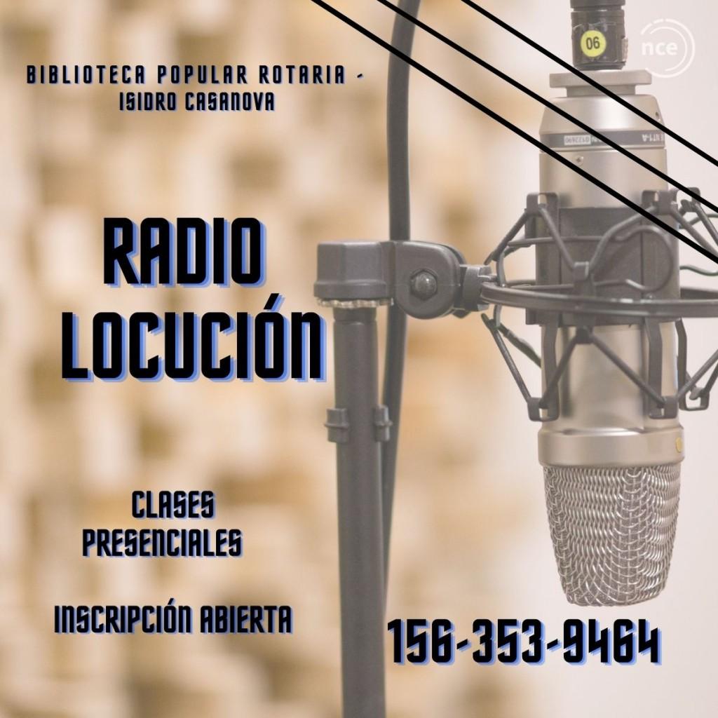 Clases presenciales de Radio y Locución en Casanova