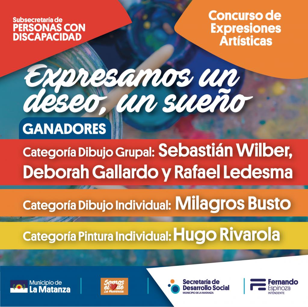 Premiados del concurso  EXPRESAMOS UN DESEO, UN SUEÑO…