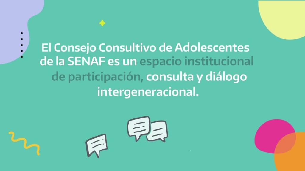 La SENAF presentó el primer Consejo Consultivo de Adolescentes