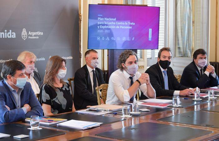 Santiago Cafiero encabezó el lanzamiento del plan nacional para la lucha contra la trata y la explotación de personas