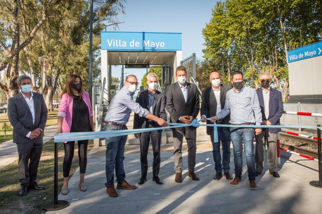 Mario Meoni inauguró oficialmente la renovada estación ferroviaria Villa de Mayo