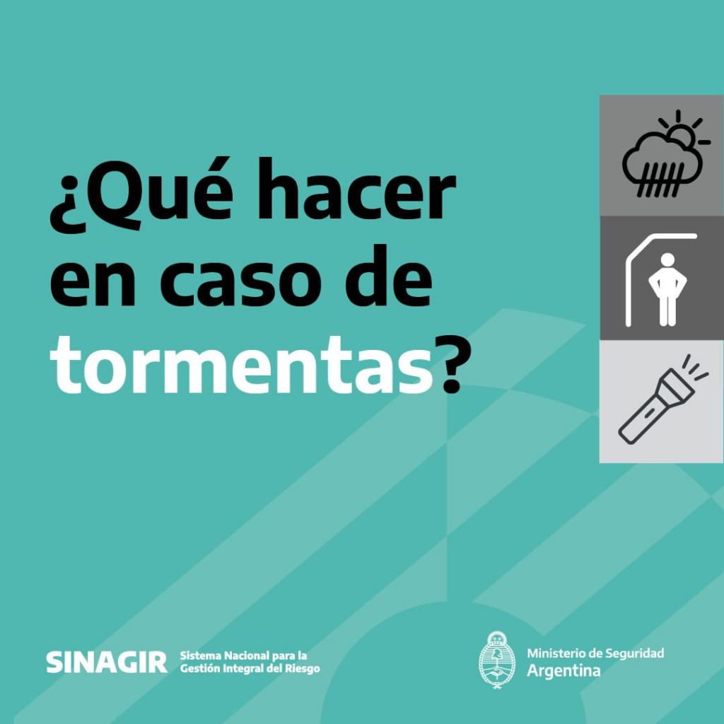 Alerta rojo por tormentas en Neuquén y Río Negro: recomendaciones de prevención del SINAGIR