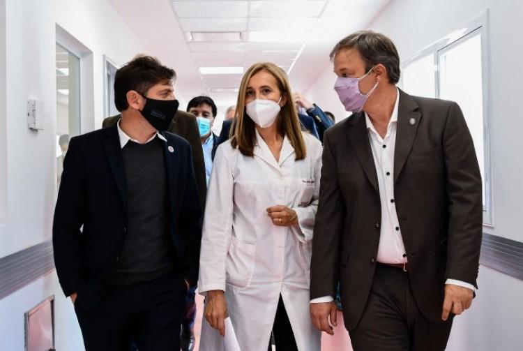 Axel Kicillof recorrió las nuevas instalaciones del Hospital Dr. Oñativia