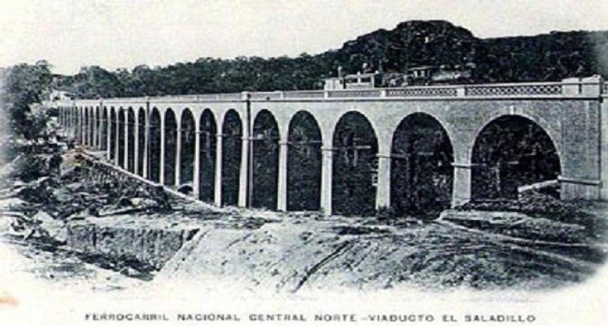 1884- Viaducto El Saladillo del  Ferrocarril Nacional Central Norte