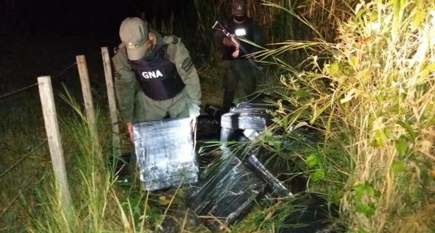 Gendarmería incautó más de media tonelada de marihuana en Misiones