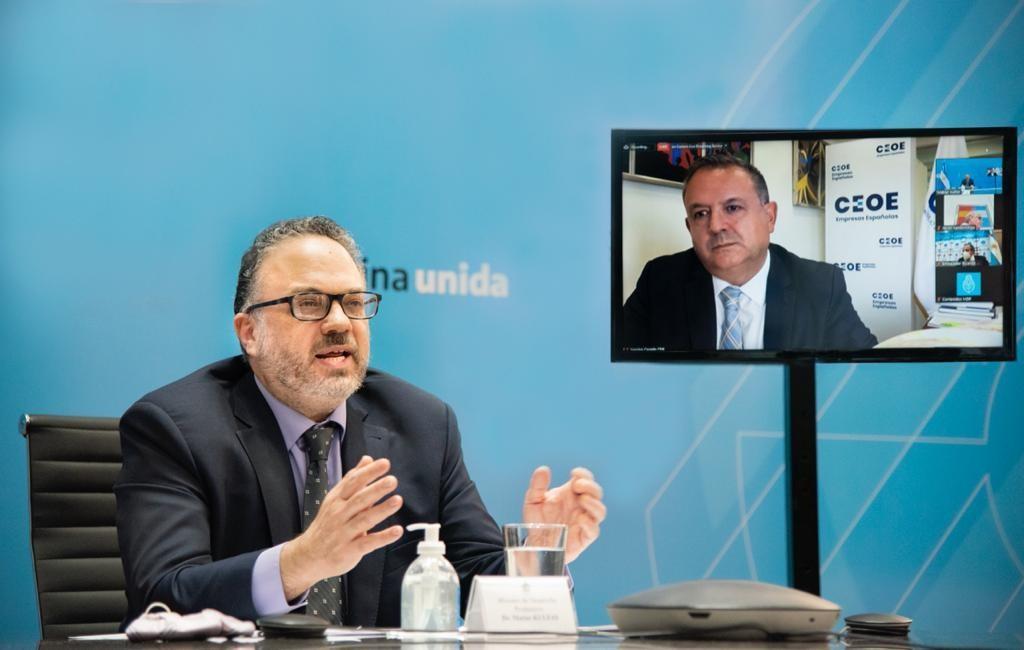 Kulfas firmó un acuerdo de cooperación con España para mejorar la competitividad y productividad de las empresas de ambos países