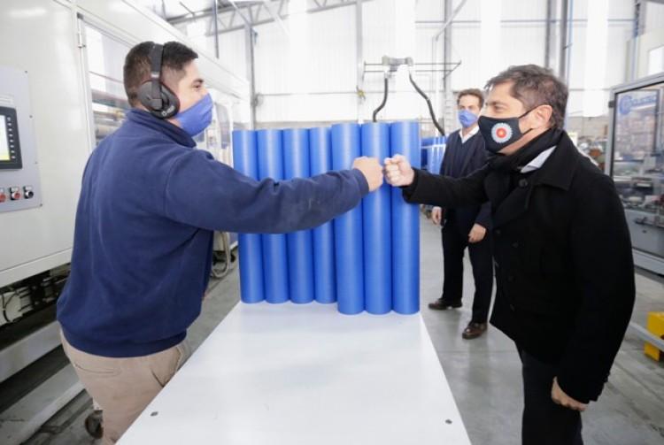 Kicillof, Costa y Mariel Fernández encabezaron la habilitación del Parque Industrial Moreno I