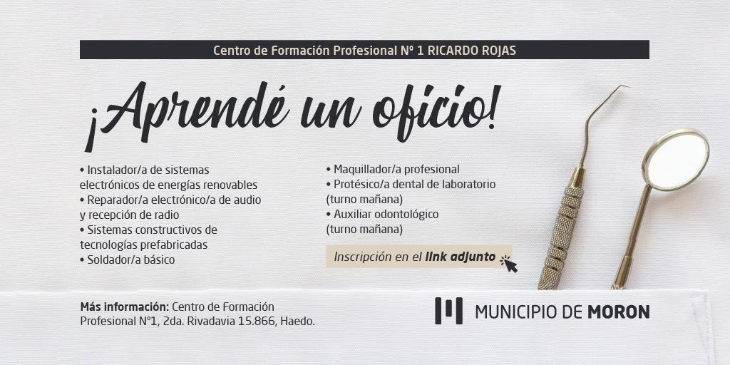 El Municipio de Morón reabre la preinscripción a los cursos del Centro de Formación Profesional