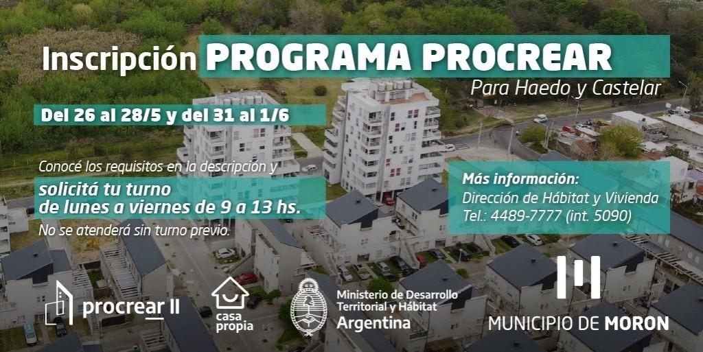 Se reabre la preinscripción para las viviendas del Procrear en Castelar sur y Haedo