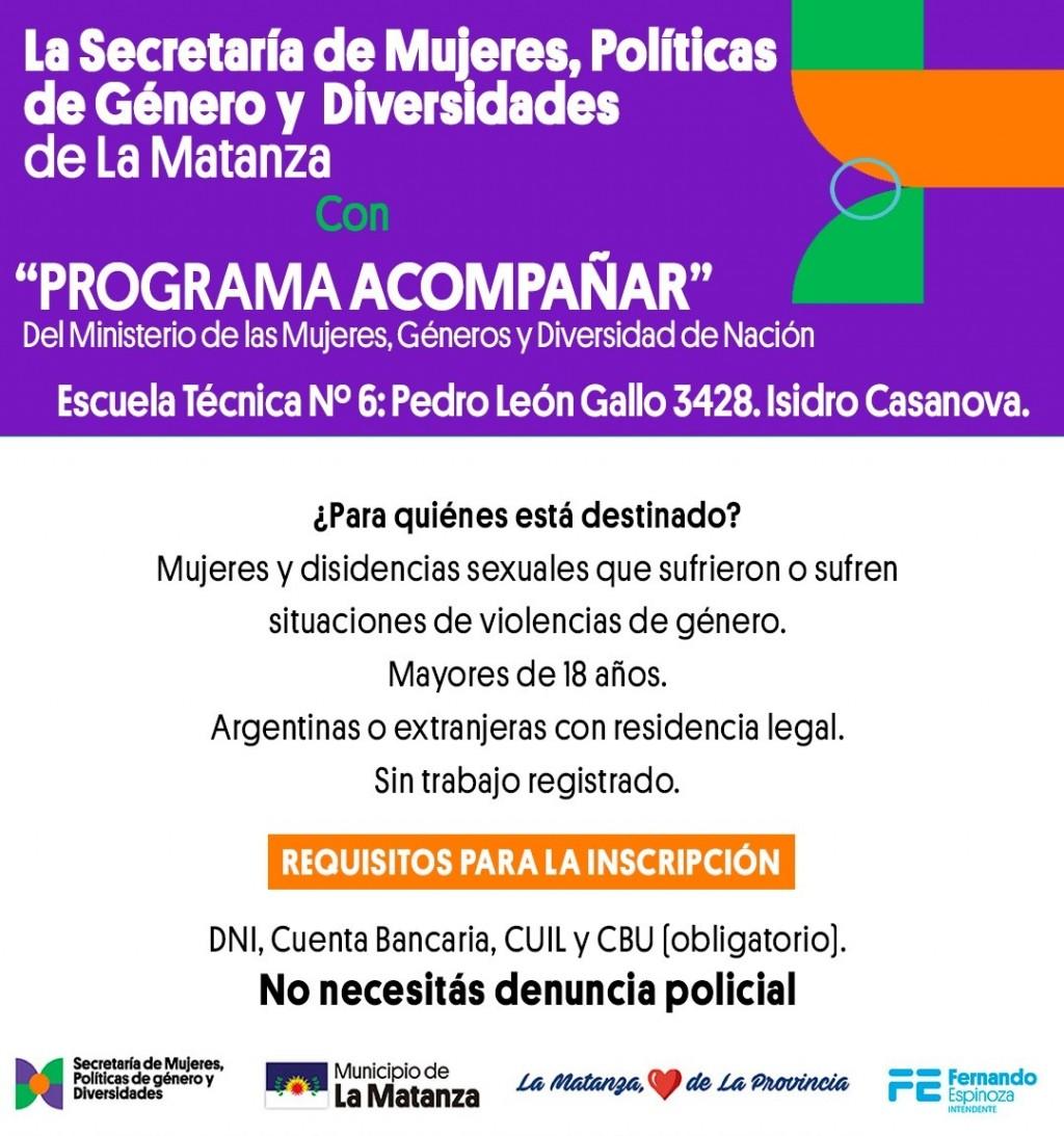 """Comienza el operativo de inscripción del """"Programa Acompañar"""" en La Matanza"""