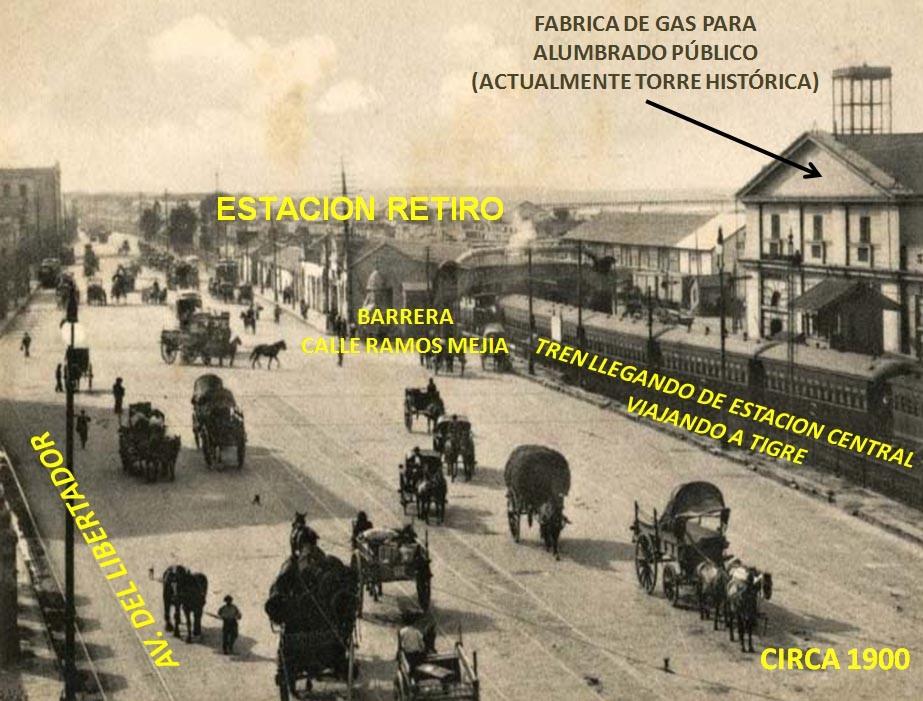 1900: DESDE LA ANTIGUA ESTACIÓN RETIRO HASTA LOS DISTINTOS AVANCES FERROVIARIOS.