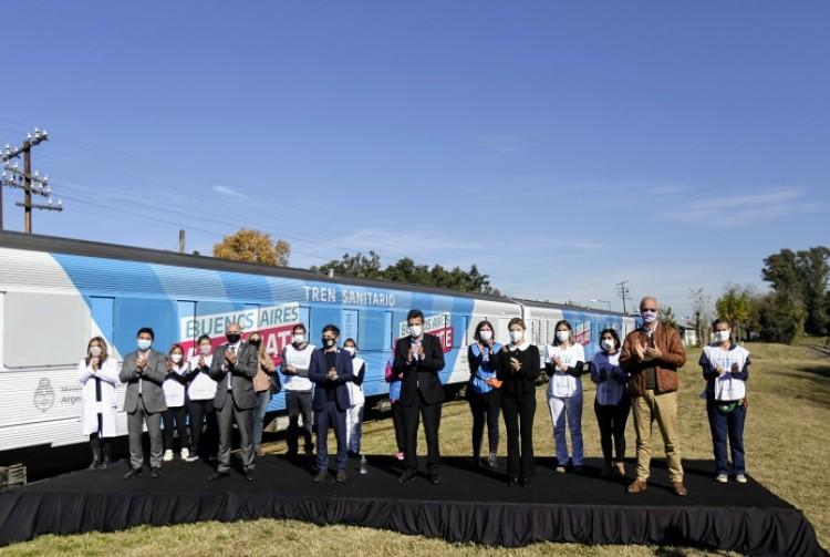Se puso en marcha el Tren Sanitario que unirá Cañuelas con Bahía Blanca