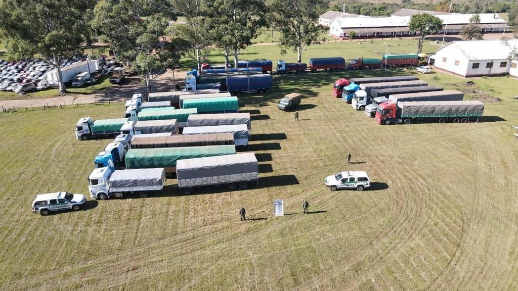 Contrabando: la Gendarmería decomisó 451 toneladas de soja y 28 de maíz