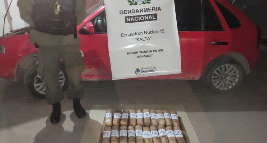 Gendarmería Nacional decomisó más de 23 kilogramos de cocaína