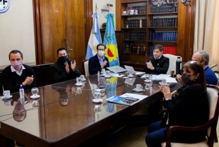 Axel Kicillof y Agustín Simone presentaron la puesta en marcha de 199 nuevas obras para 107 municipios