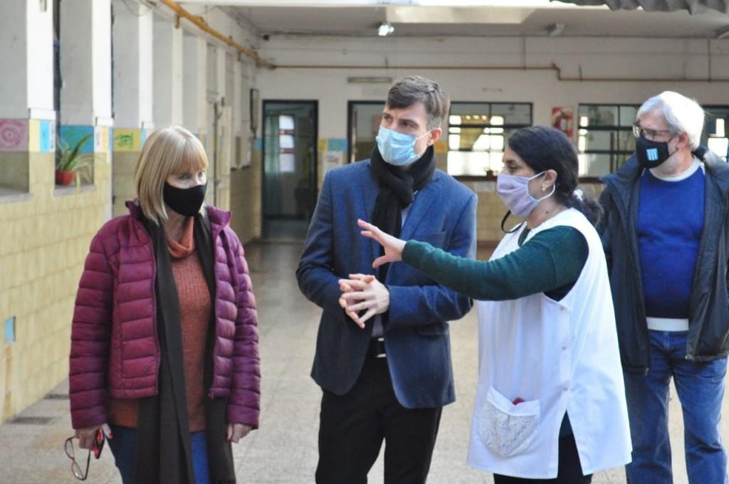 Continúan las obras de infraestructura escolar en Morón