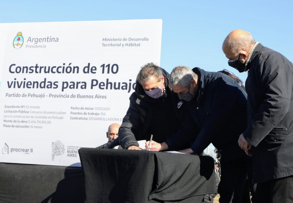 Jorge Ferraresi y Pablo Zurro anunciaron un nuevo Desarrollo Urbanístico para Pehuajó