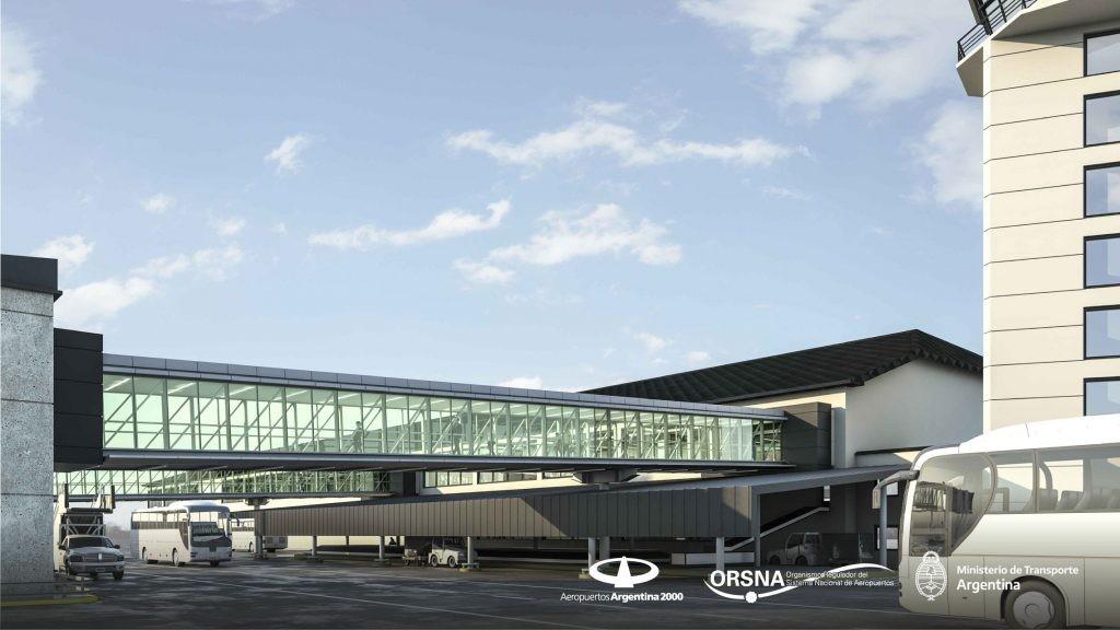 Avanzan las obras de modernización del aeropuerto de Bariloche con la instalación de 11 nuevos puestos de Check-in