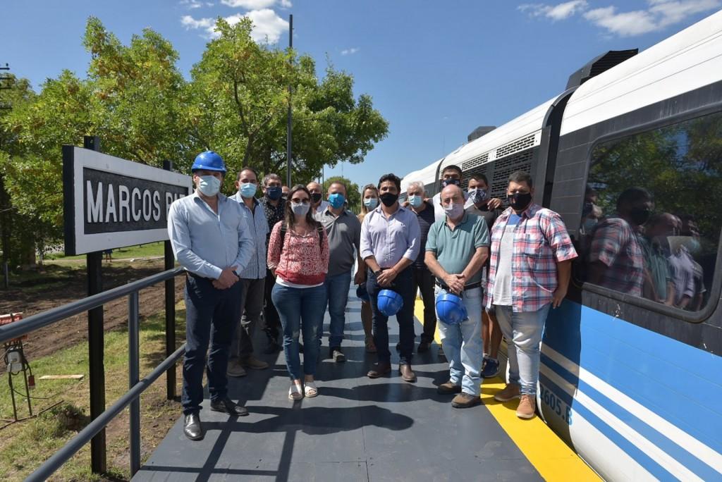 El tren Belgrano Sur llegó a Marcos Paz después de 28 años