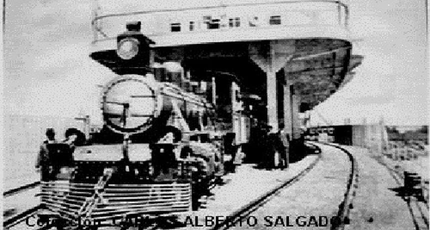 1913- FERROBARCOS CRUZANDO EL RÍO PARANÁ