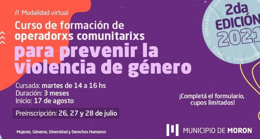 Morón: últimos días de inscripción al curso de operadores y operadoras comunitarios para prevenir la violencia de género