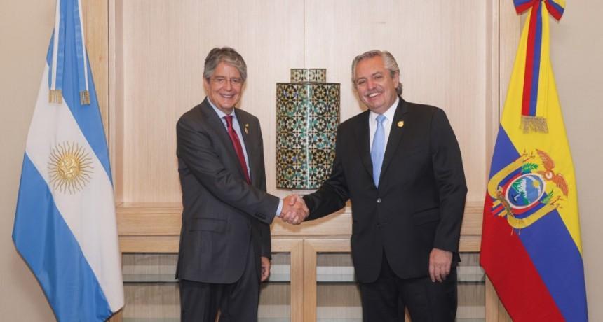 El Presidente mantuvo una reunión bilateral con su par de Ecuador, Guillermo Lasso