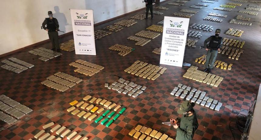 Narcotráfico: la Gendarmería decomisó más de 1.780 kilos de marihuana