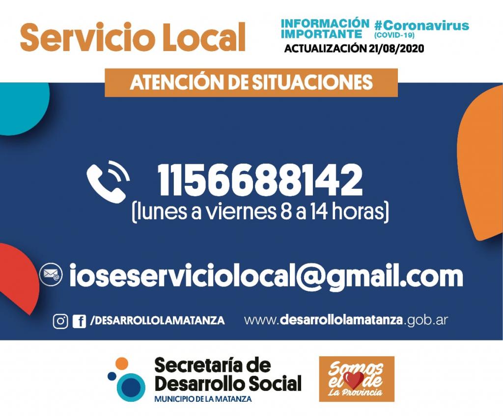 Servicio Local: actualización de número de contacto.