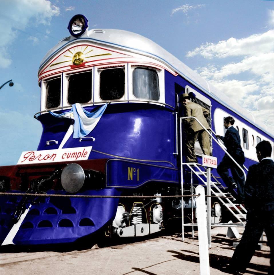 """1951: Presentación de la locomotora """"Justicialista"""""""