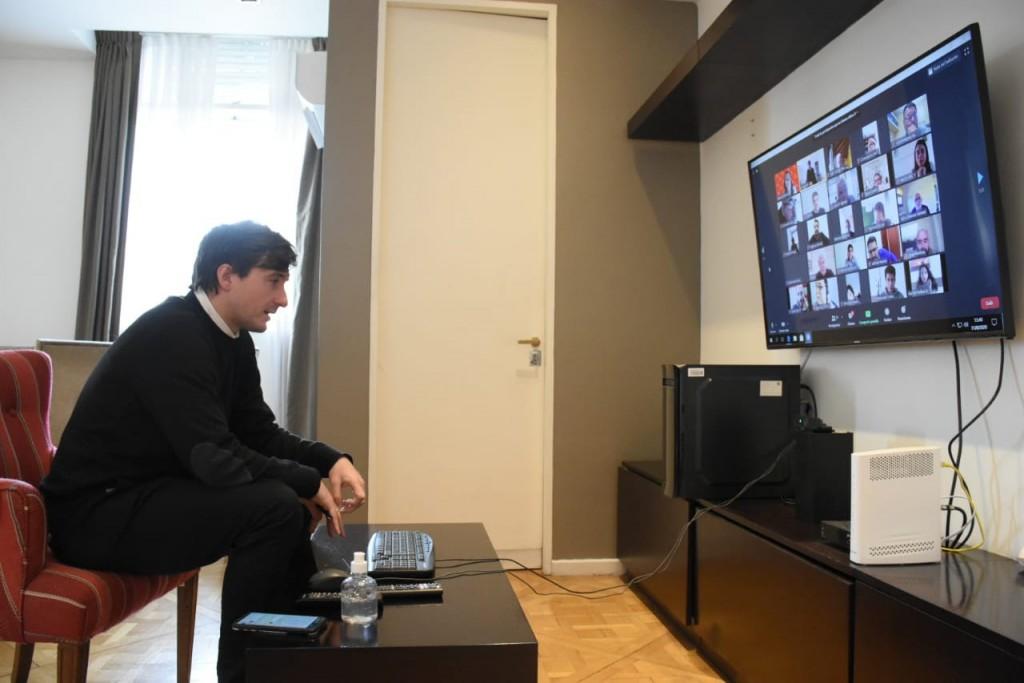 Lucas Ghi se reunió con representantes de cámaras de comercio e industria del distrito