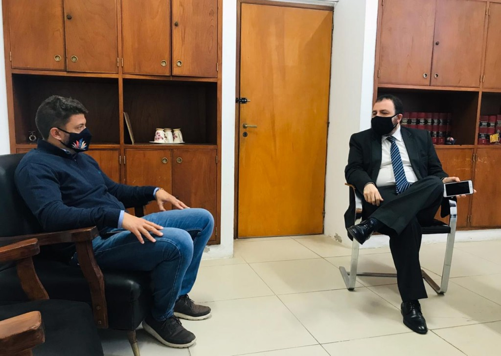 El Subsecretario de Articulación Territorial, Gerardo Girón, se reunió con el Intendente de Exaltación de la Cruz, Diego Nanni