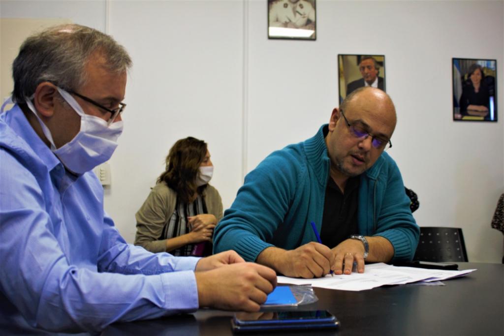 Firma de convenio entre SENAF y el Municipio de La Matanza