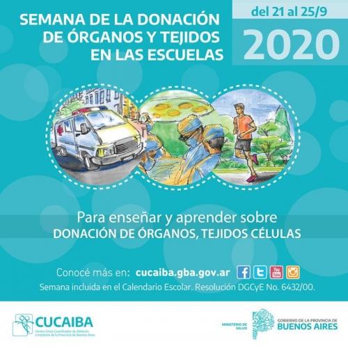 SEMANA DE LA DONACIÓN DE ÓRGANOS Y TEJIDOS EN LAS ESCUELAS